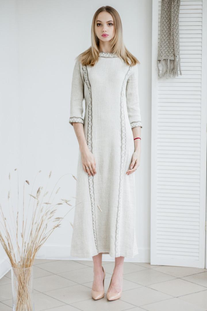c41481d8403 Купить Платье итальянского дизайнера из умягченного льна